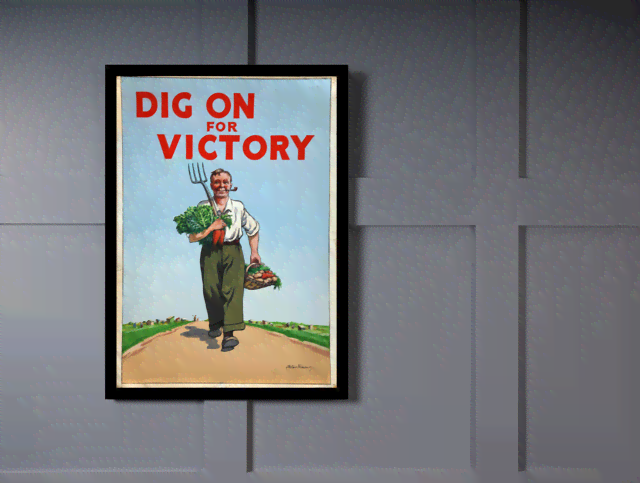 Quadro Poster Cozinha Dig On for Victory na internet