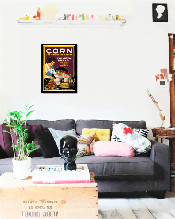 Quadro Poster Cozinha Corn The Food Of The Nation - comprar online