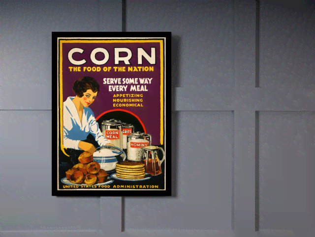 Quadro Poster Cozinha Corn The Food Of The Nation na internet