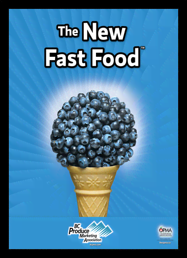 Quadro Poster Cozinha The New Fast Food Blueberry