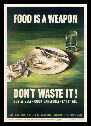Quadro Poster Cozinha Food is a Weapon
