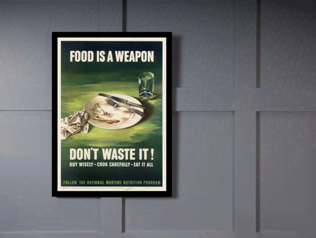 Quadro Poster Cozinha Food is a Weapon na internet