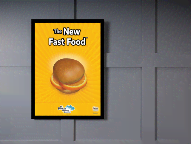 Quadro Poster Cozinha The New Fast Food Orange na internet