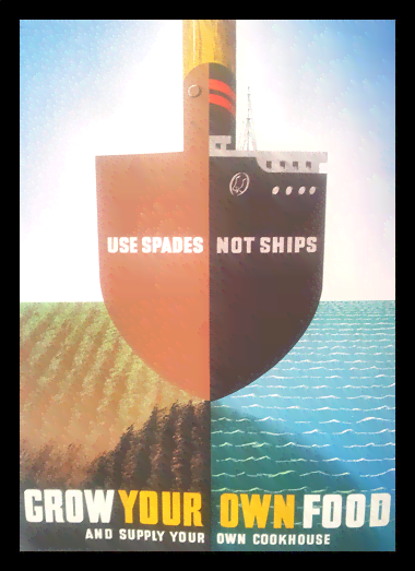 Quadro Poster Guerra Use Spades Not Ships