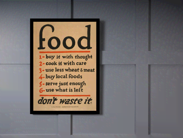 Quadro Poster Guerra Food Dont Waste It na internet