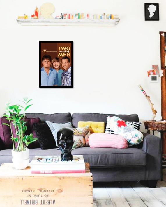 Quadro Poster Series Two and a half Men 8 - comprar online