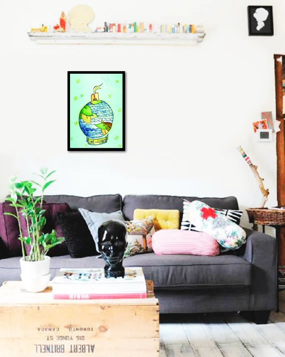 Quadro Poster Art Digital Love Each Other - comprar online