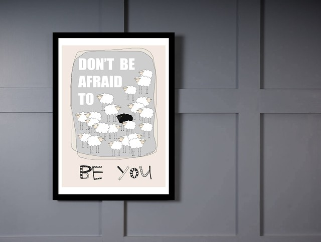 Quadro Poster Art Digital Dont Be Afraid to Be You na internet