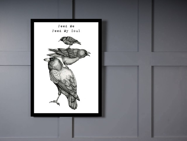 Quadro Poster Art Digital Feed Me Feed My Soul na internet