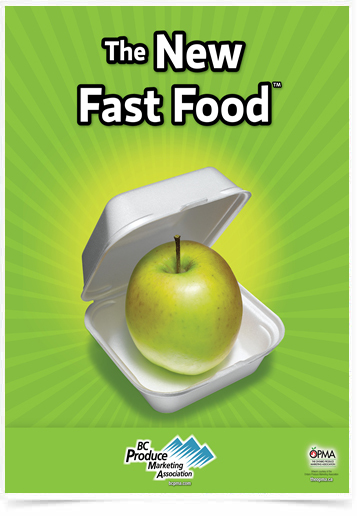 Poster Cozinha The New Fast Food Apple