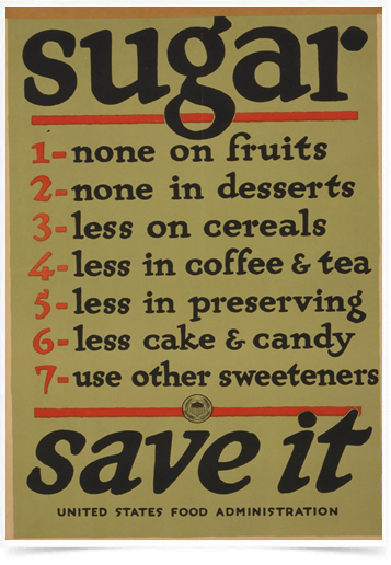 Poster Propaganda Bebidas Sugar Save it