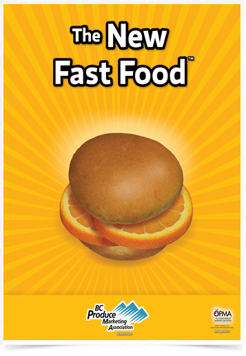 Poster Cozinha The New Fast Food Orange