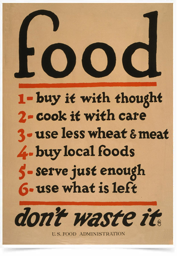 Poster Guerra Food Dont Waste It