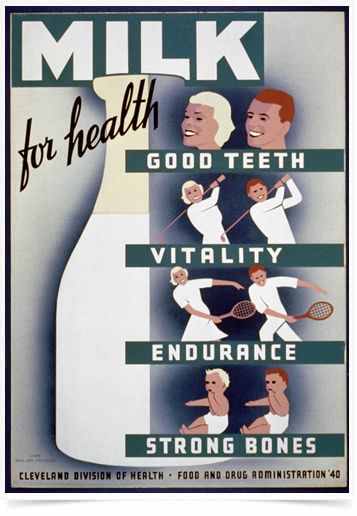 Poster Propaganda Bebidas Milk for Health