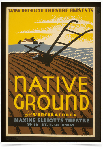 Poster Propaganda Bebidas Native Ground