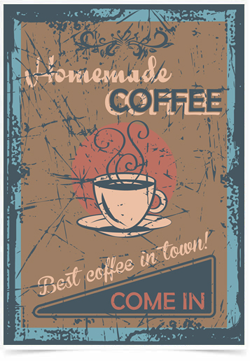 Poster Cozinha Homemade Coffee Come In