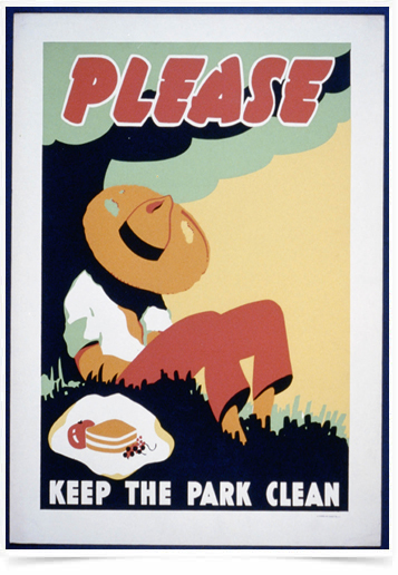 Poster Propaganda Bebidas Please The Park Clean