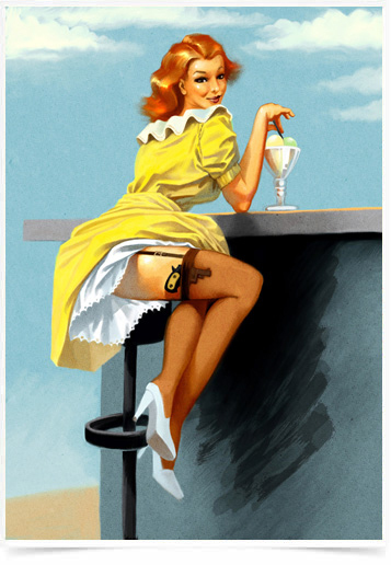 Poster Pinup Bar