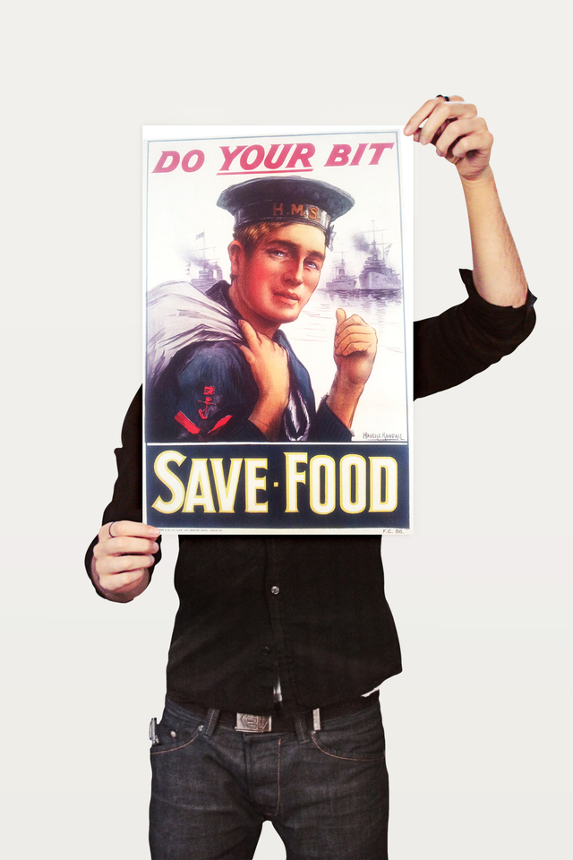 Poster Guerra Do Your Bit Save Food - comprar online