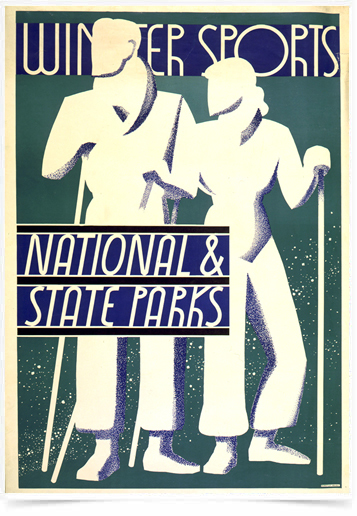 Poster Esportes Winter Sports National State Parks