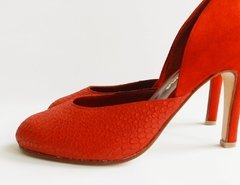 Stilleto D'Orsay Rojo Cherry - Battaglia Laguna - Shop Online, Mercado Pago.
