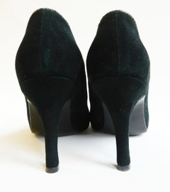 Stiletto Escote V Verde Acero - Battaglia Laguna - Shop Online, Mercado Pago.