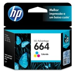 Cartucho de Tinta HP 664 Color Original F6V28AB