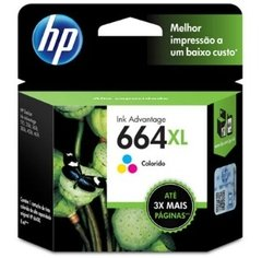 Cartucho de Tinta HP 664XL Color Original F6V30AB