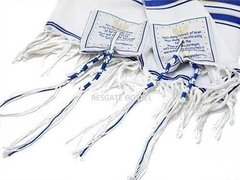 Talit Gadol Messianico + Broche 12 Tribos + Bolsa Transporte