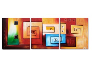 Quadro Decorativo Abstrato Moderno Cod 1103