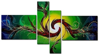 Quadro Decorativo Abstrato Moderno Cod 115 na internet