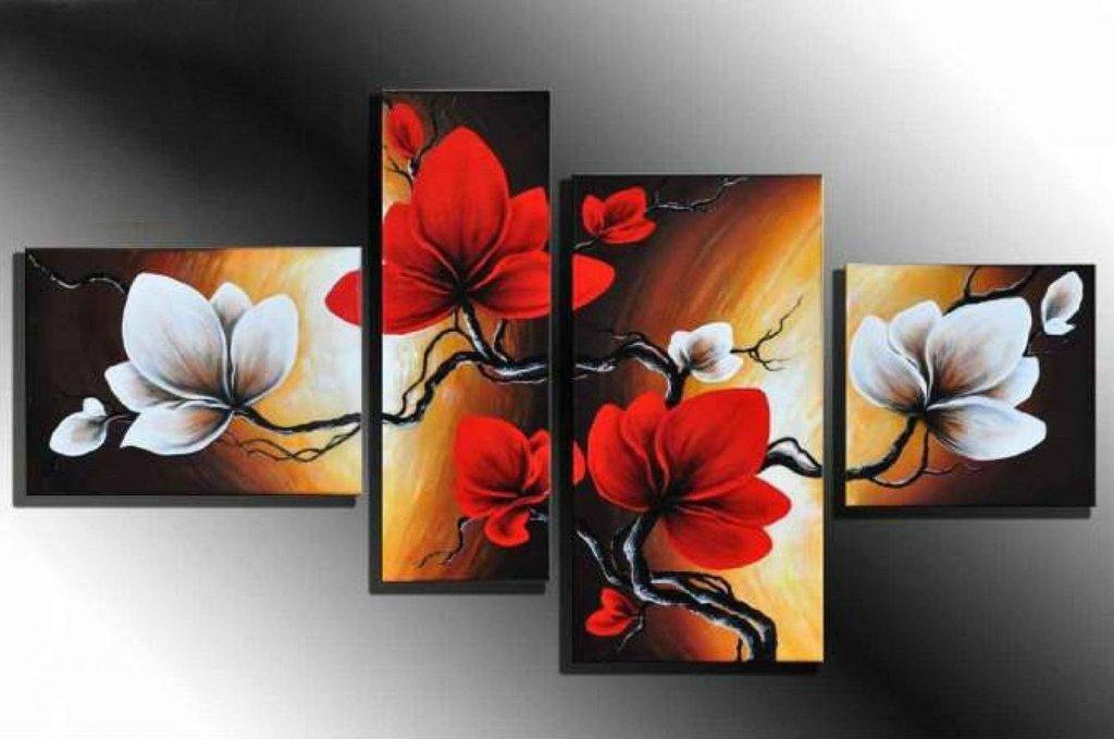 Quadro decorativo flores florais moderno cod 1712 - Bimago cuadros modernos ...