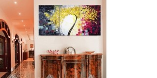 Quadro Decorativo Árvore Abstrato Cod 1803 na internet