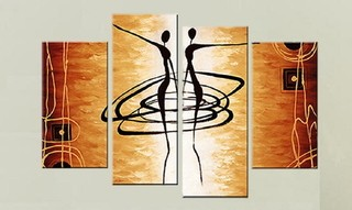 Quadro Decorativo Abstrato Africano Cod 1719 na internet