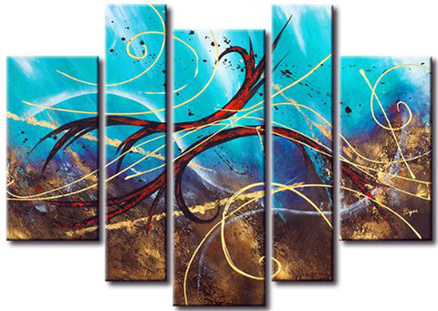 Quadro Decorativo Abstrato Moderno Cod 425