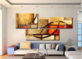 Quadro Decorativo Abstrato Cod 1711 na internet
