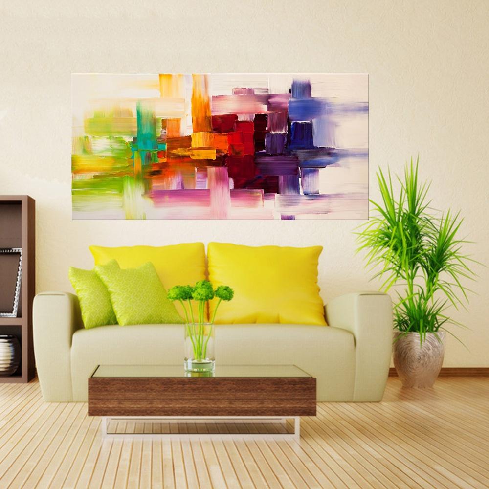 Decorando A Casa Com Quadros Abstratos Pintados M O -> Quadro Abstrato Sala De Jantar