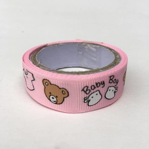 Washi tape de tela rosa Ositos en internet