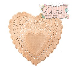 Blondas corazon kraft 10 cm x 100 u en internet