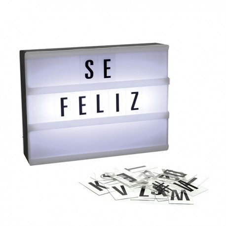 MINI Cartelera Light box con letras