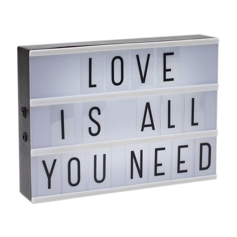 MINI Cartelera Light box con letras - comprar online