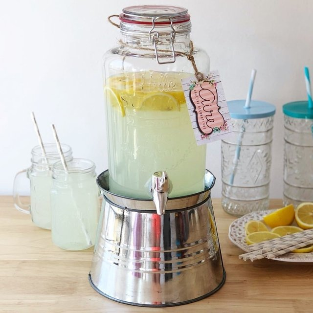 Dispenser Hello summer 3 L  + base plateada en internet