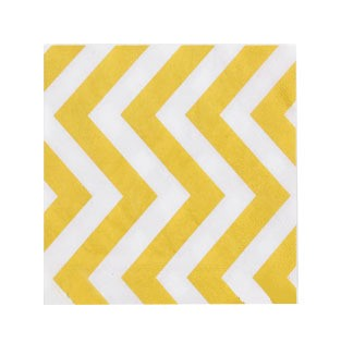 Servilleta chevron amarillo ancho x 20 en internet