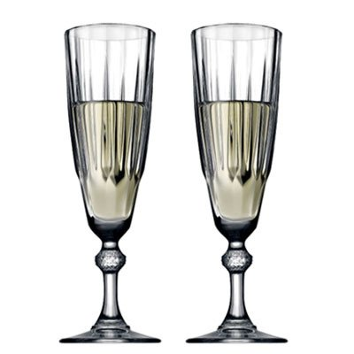 Set de dos copas champagne diamond