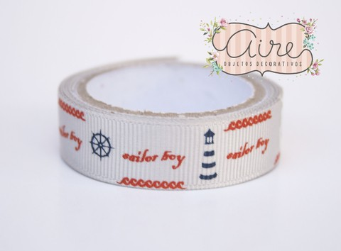 Washi tape de tela marinero