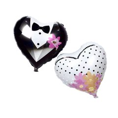 Packs de 2 globos corazon novios 45 cm en internet