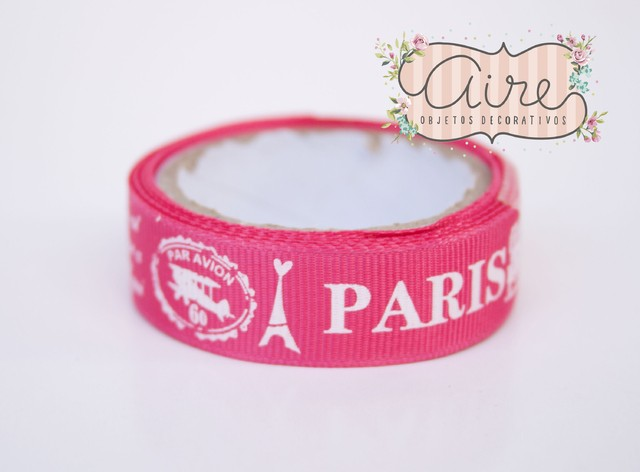 Washi tape de tela Paris fucsia