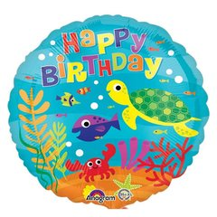 "Globo fondo de mar anagram Happy Birthday 18"" /  45 cm en internet"