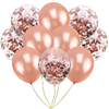 Set de 10 globos  gold rose y confetti
