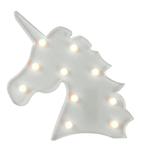 Unicornio luminoso blanco